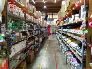 Christmas Aisle at HollyNorth Production Supplies